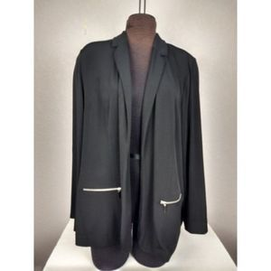 Lane Bryant Open Front Jacket with Zipper Pockets